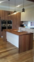 Solid Black Wood Island Benchtop