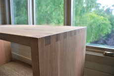 American White Oak Desk with Figerjoined Edges