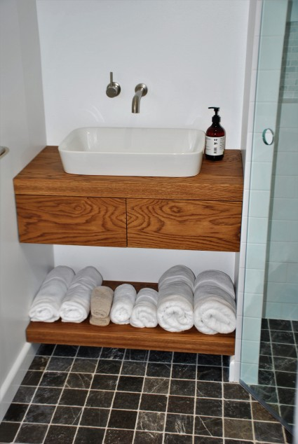 American White Oak two drawer Vanity