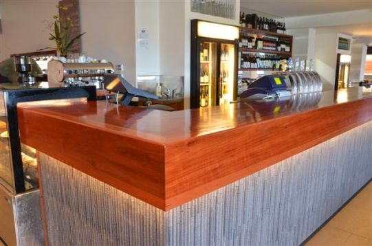 A Solid Jarrah Commercial Bar Top