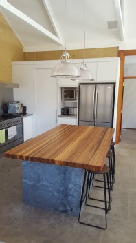 Spotted Gum strip-laminated Solid Timber Benchtop