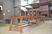 Spotted Gum table @ The Imperial Hotel Bowral